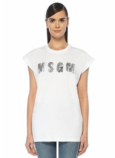 MSGM Tişört Beyaz